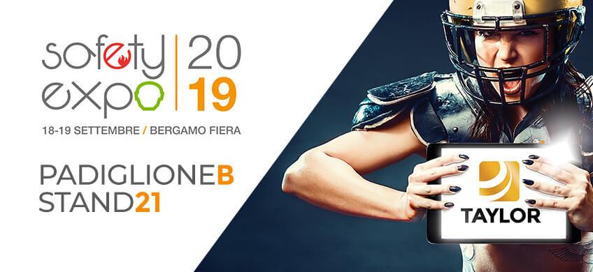 Taylor al Safety Expo 2019: il 18 e 19 settembre ti aspettiamo a Bergamo!